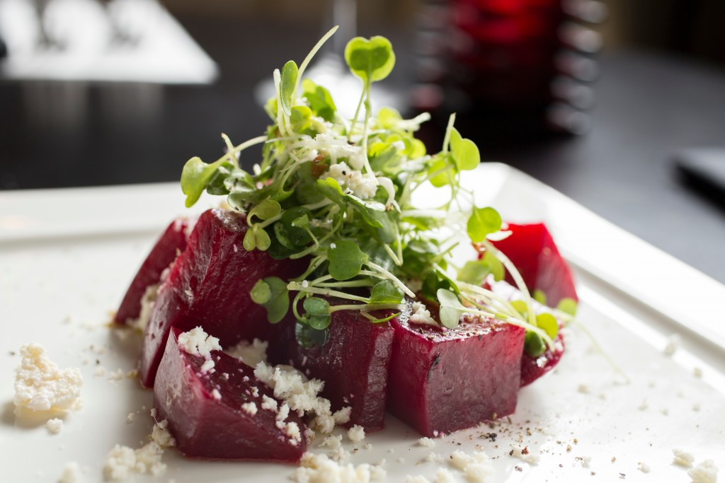 Top Steak House Beets with Ricotta