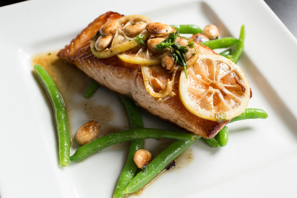 Seared Scottish Salmon from The Top Steak House